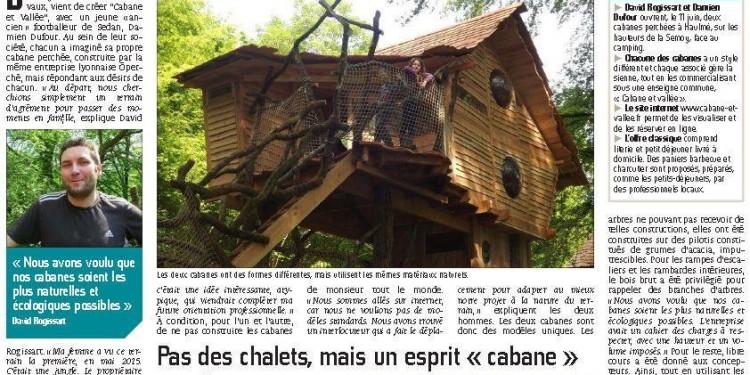 Cabane et vallée Ardennes